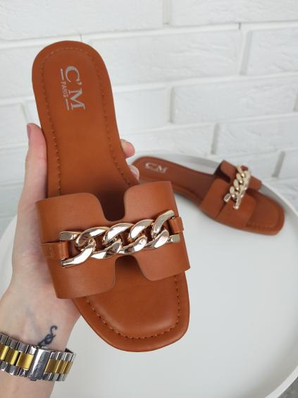 Pantofle Sarah brown
