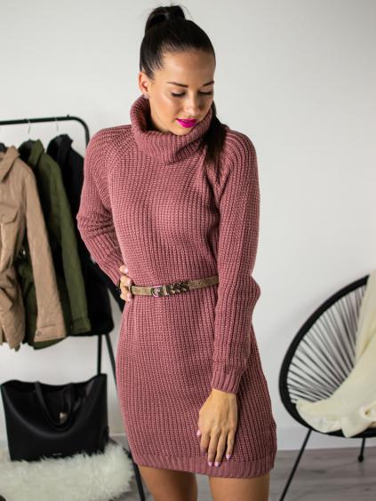Rolákové šaty Glitte rose