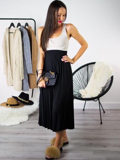 Plisovaná sukně black
