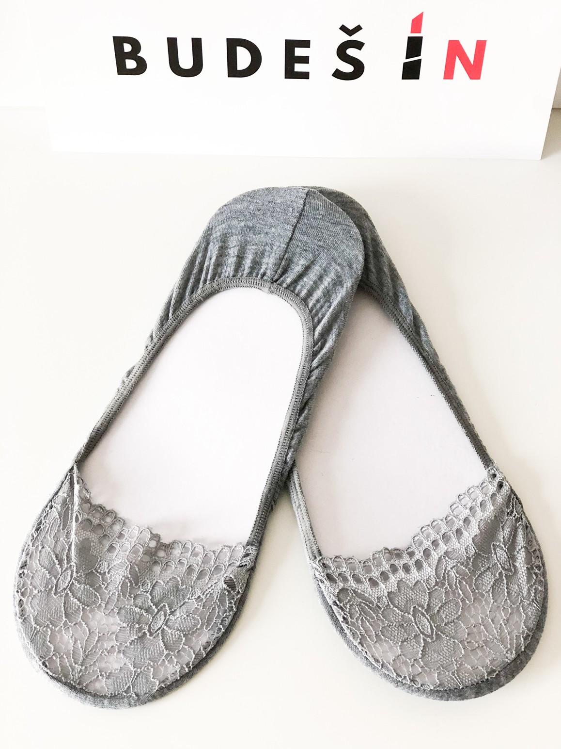 Ponožky Lace grey Velikost: 39/42