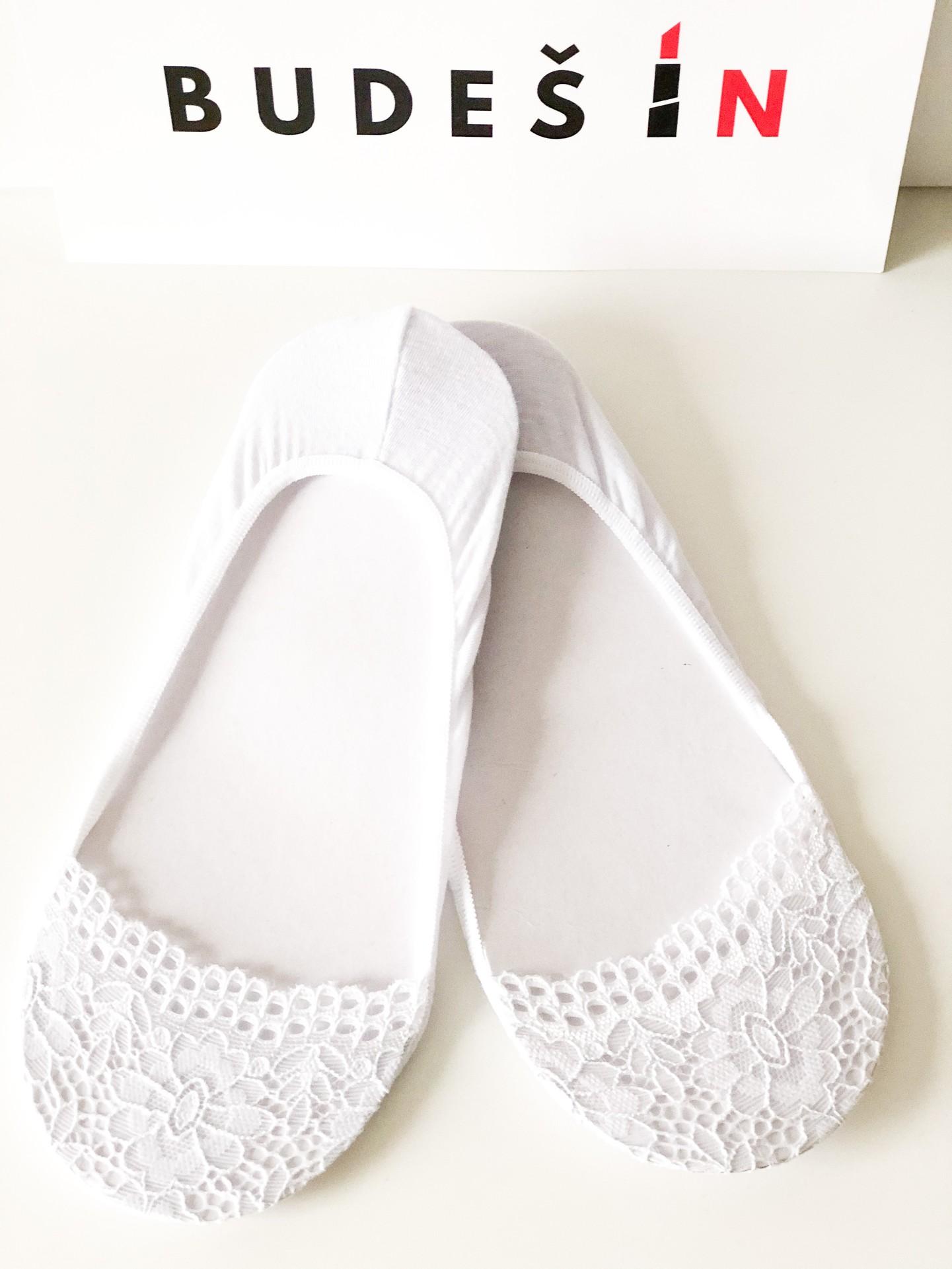 Ponožky Lace white Velikost: 39/42