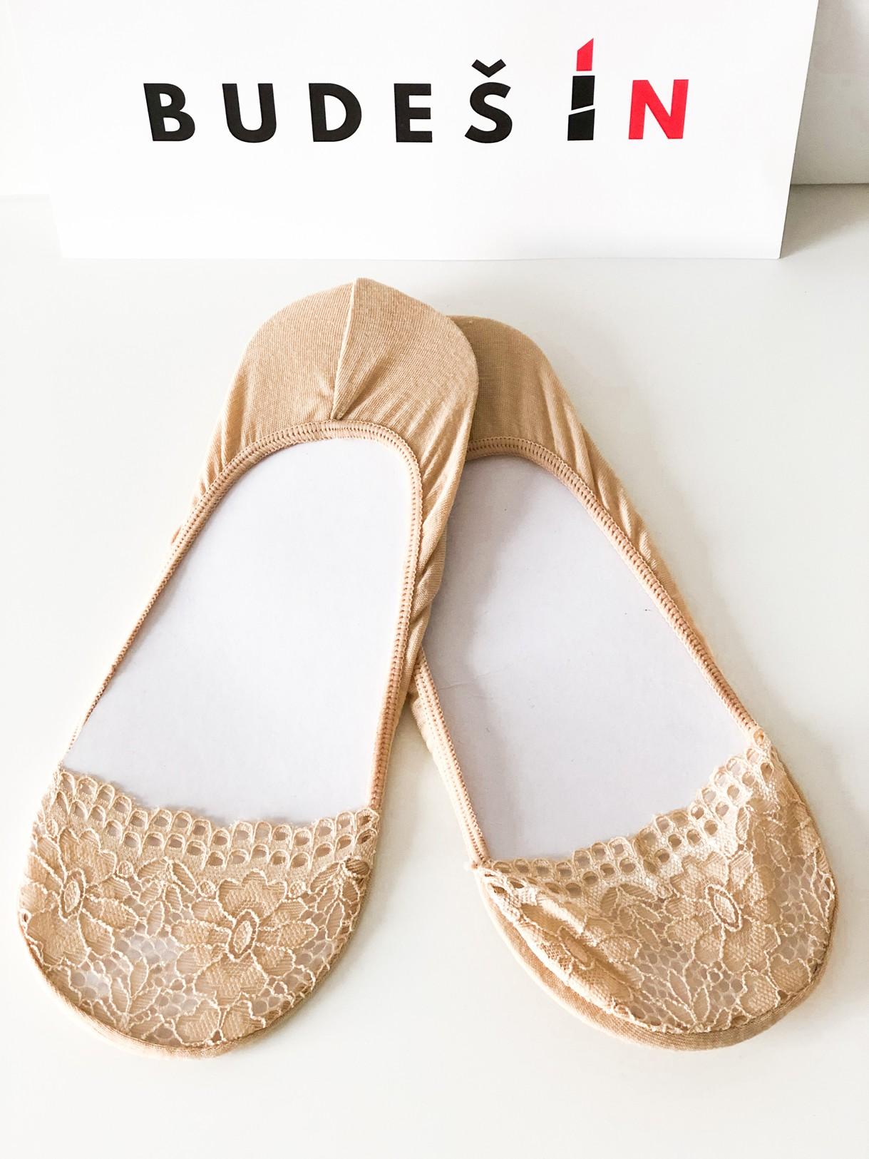 Ponožky Lace beige Velikost: 39/42