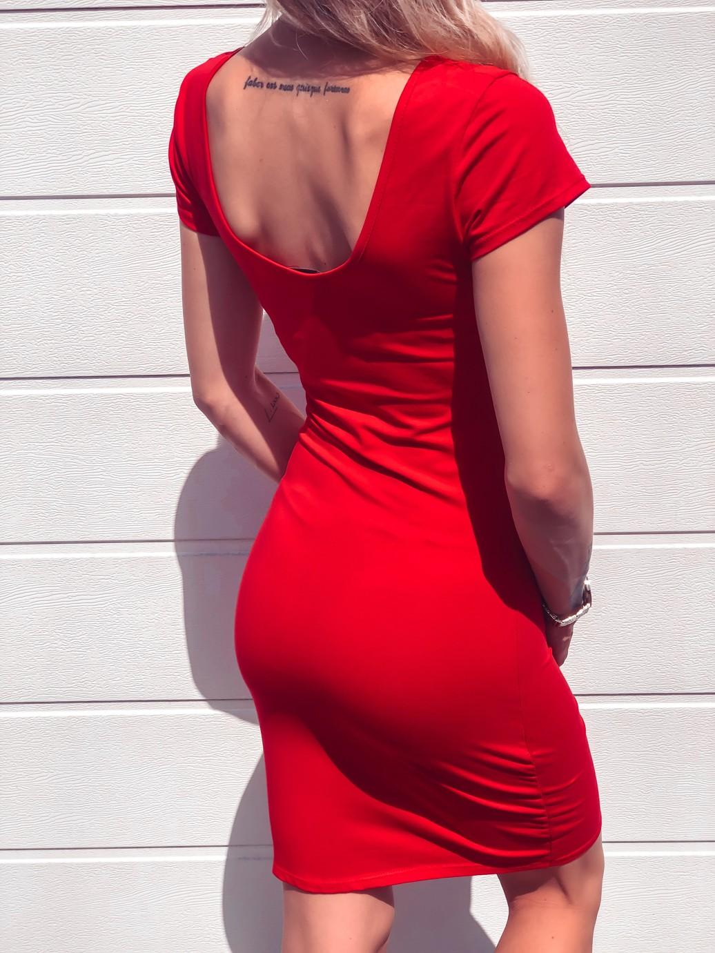 Levně Šaty Basi red