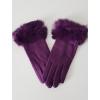 Rukavice purple s kožíškem
