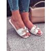 Pantofle Sarah white