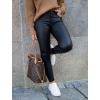 Koženkové kalhoty Push-up