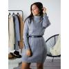 Rolákové šaty Glitte grey