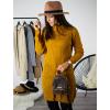 Rolákové šaty Glitte mustard