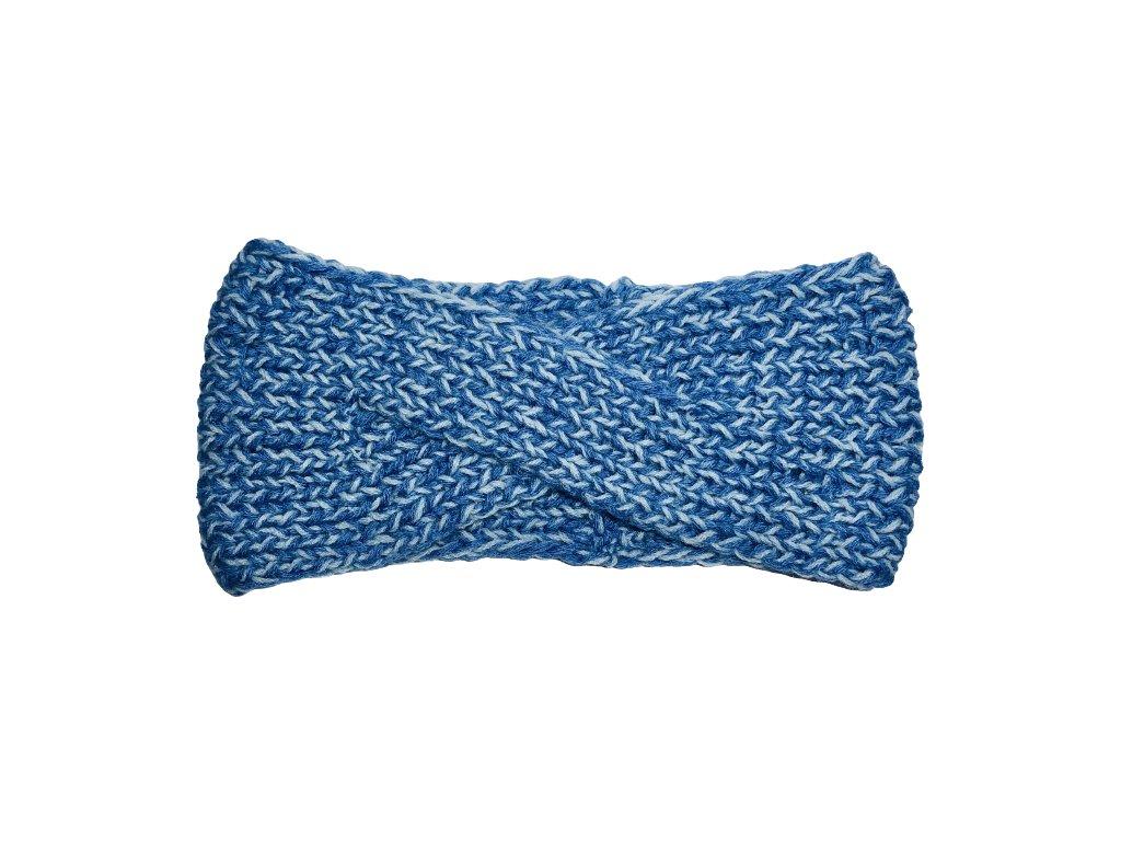 Modrá překládaná čelenka