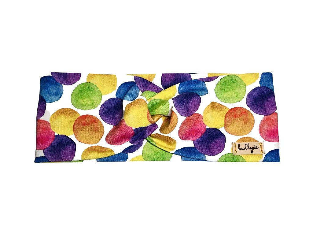 Čelenka - barevné puntíky