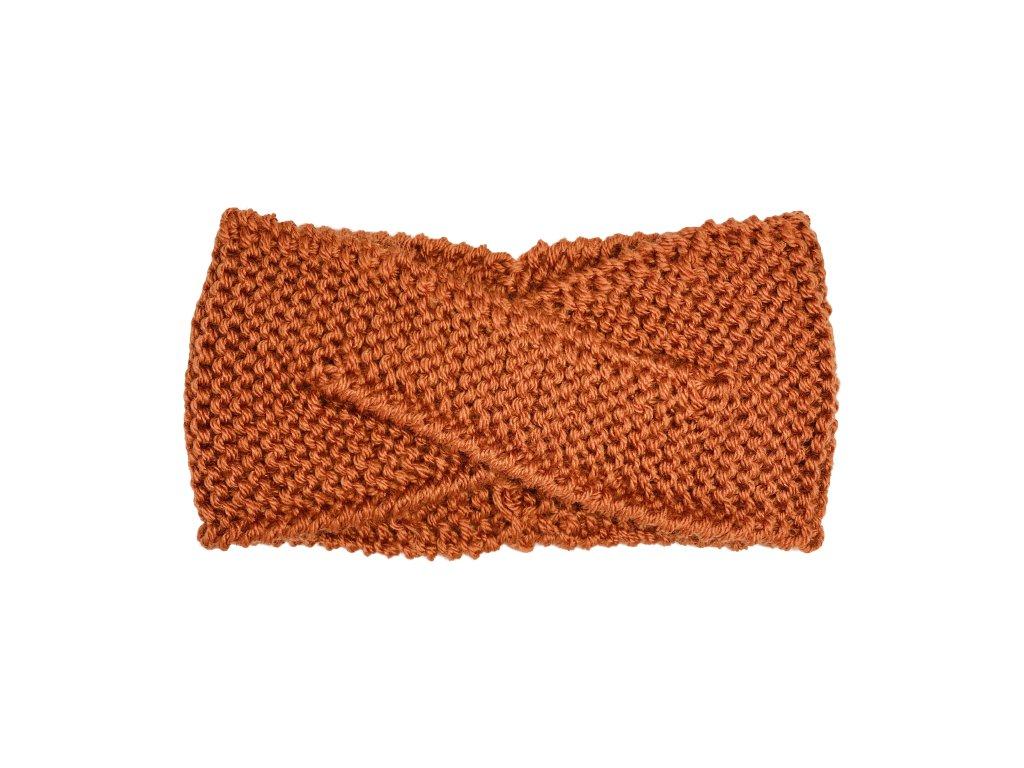 Cihlově oranžová překládaná čelenka
