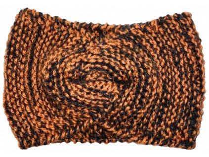 Černooranžová čelenka uzel