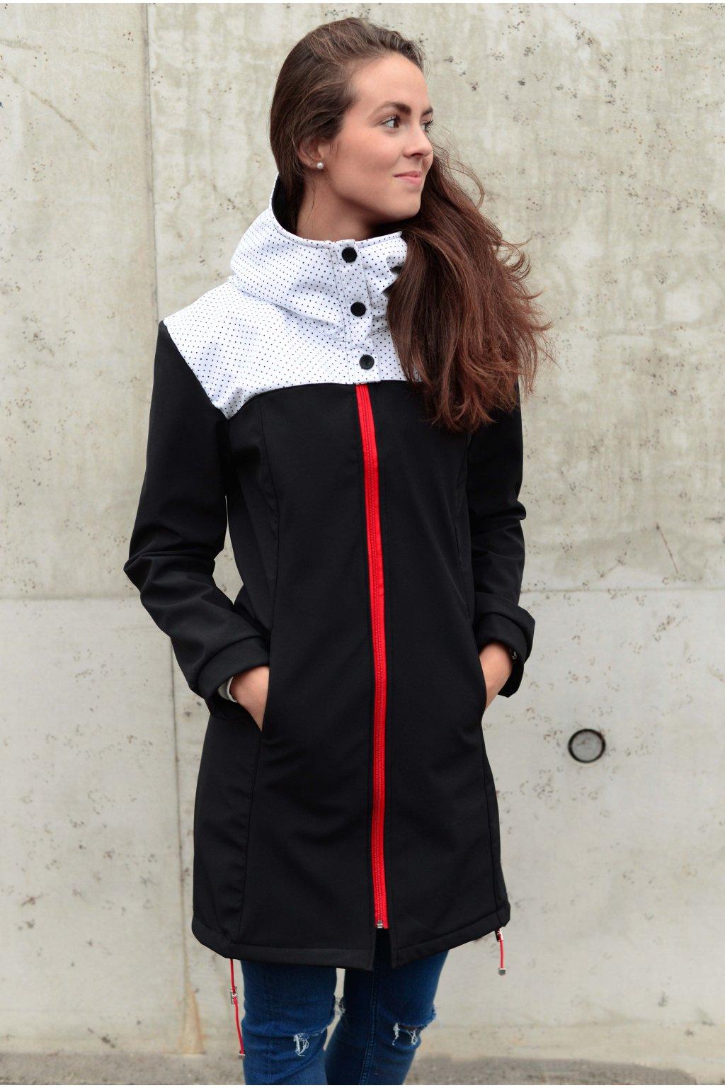 Softshell kabát Carlie Black White