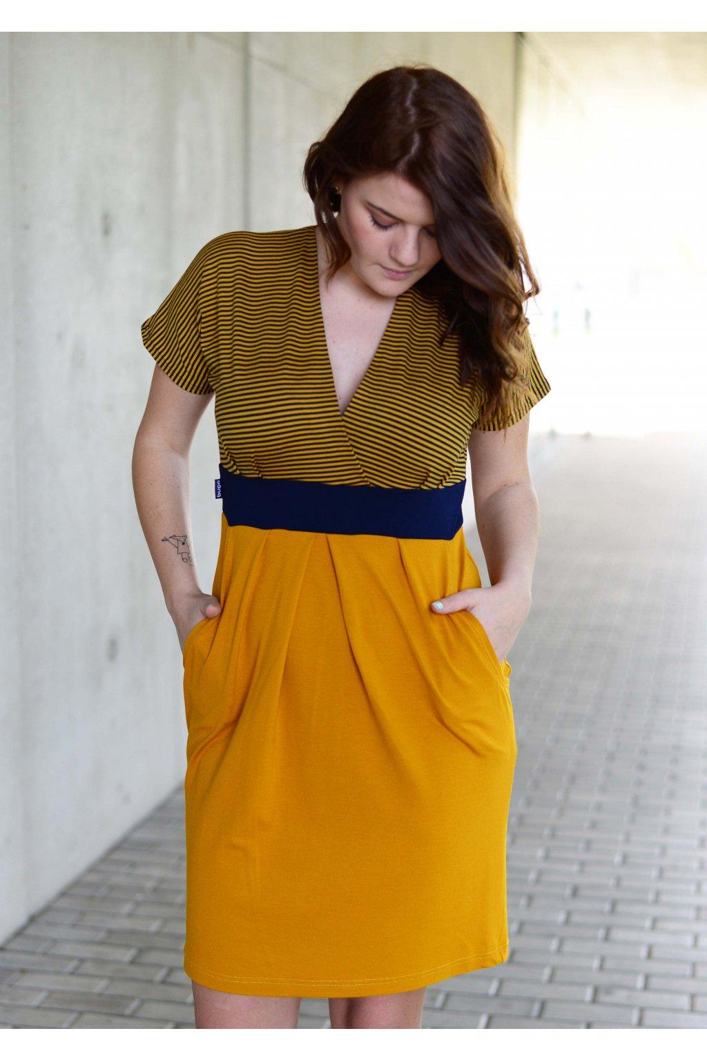 Šaty Naki Mustard