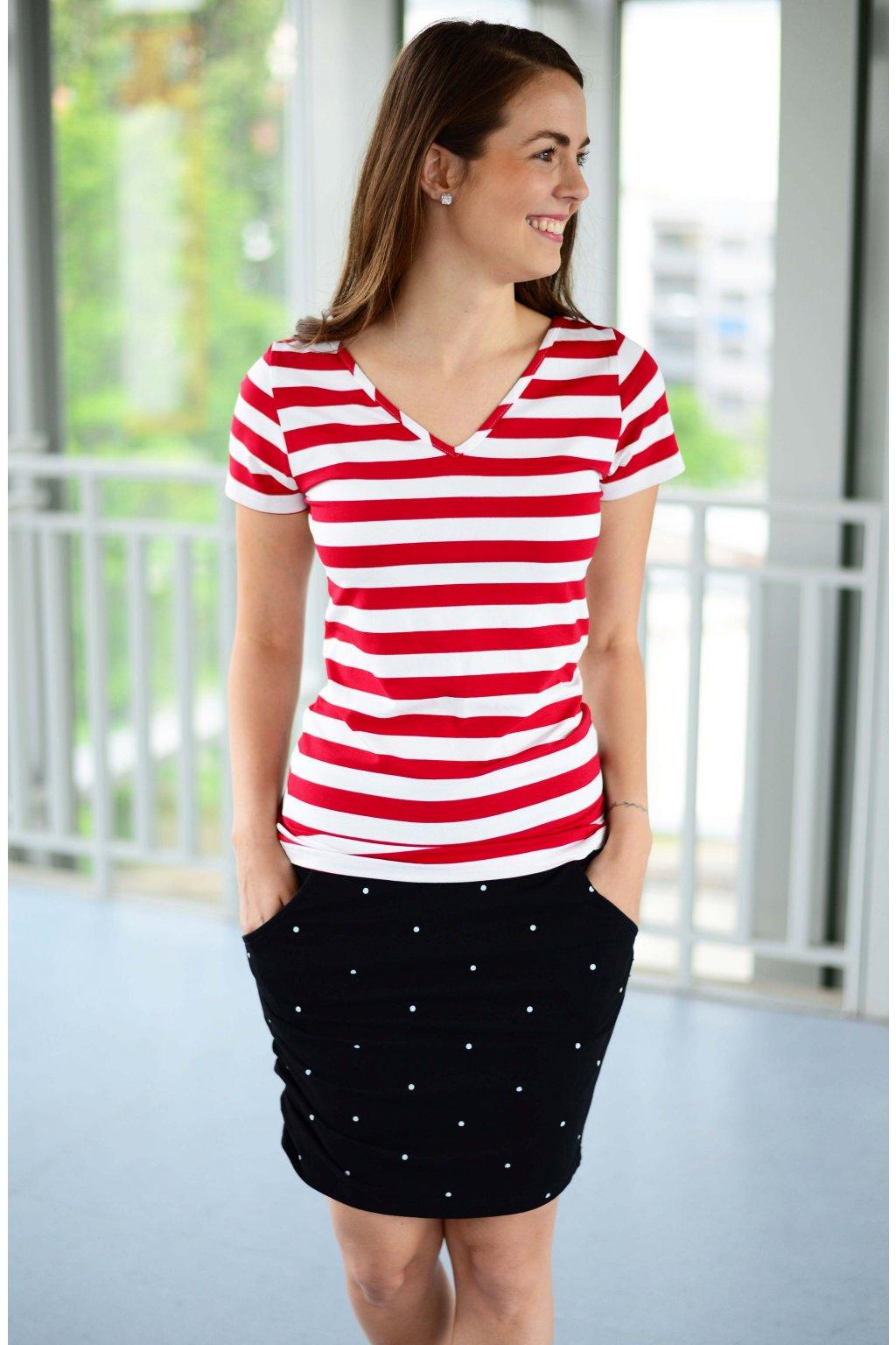 Tričko Dara Red Stripe