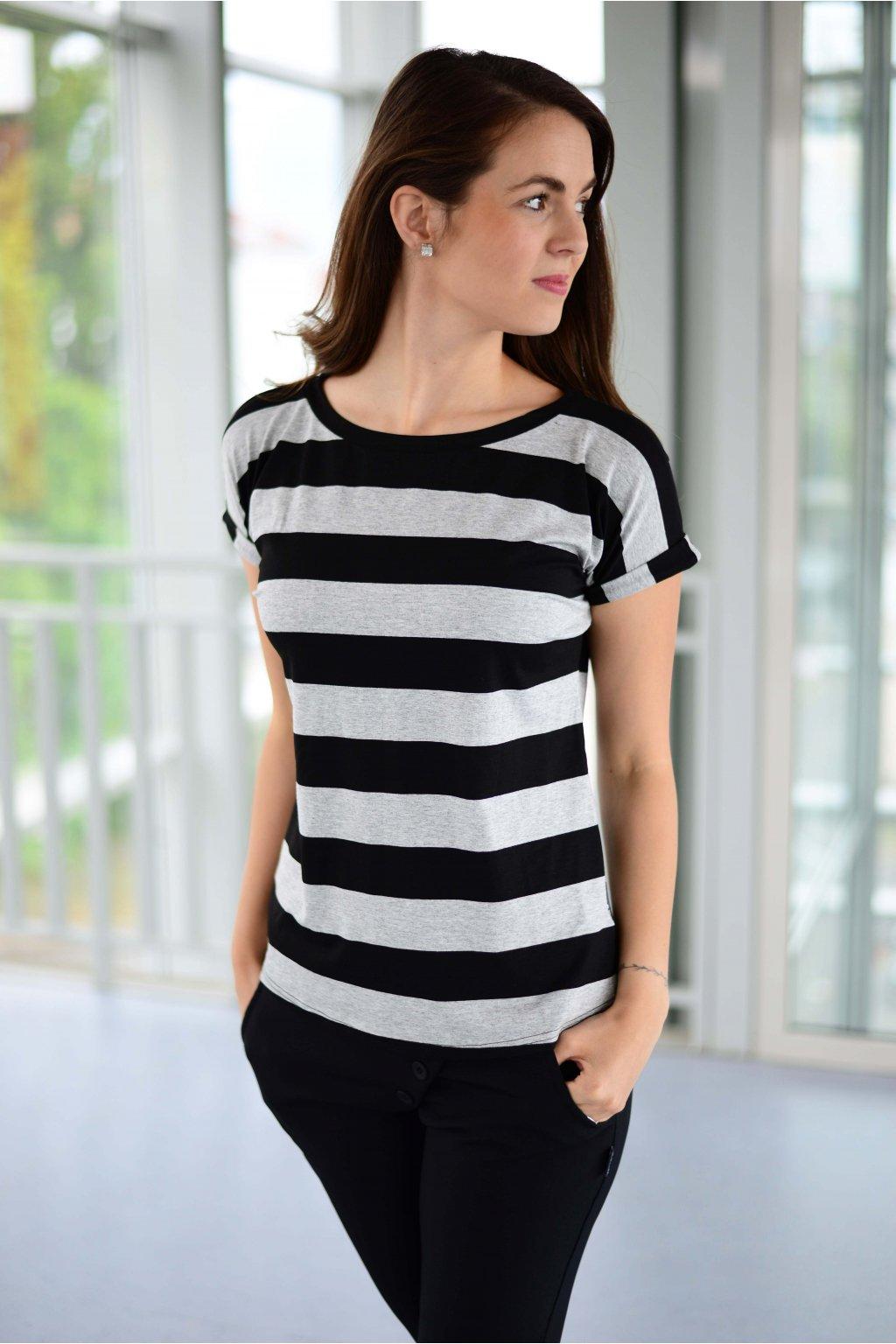Tričko Kali Grey Stripe