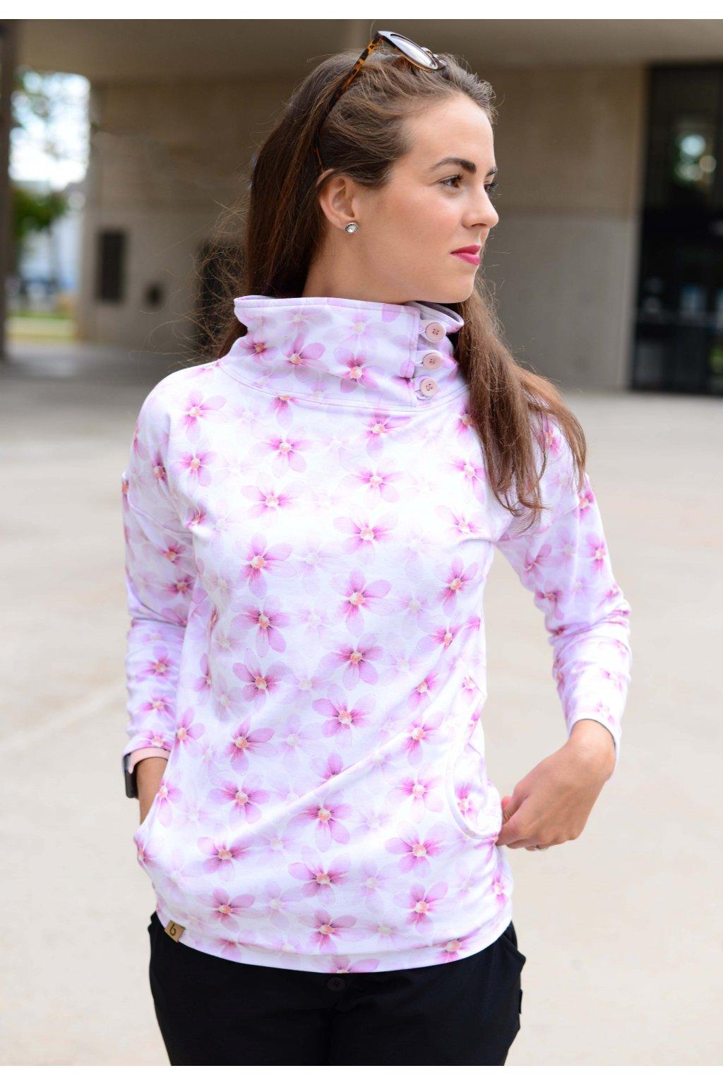 Mikina Zeena Pink Flo
