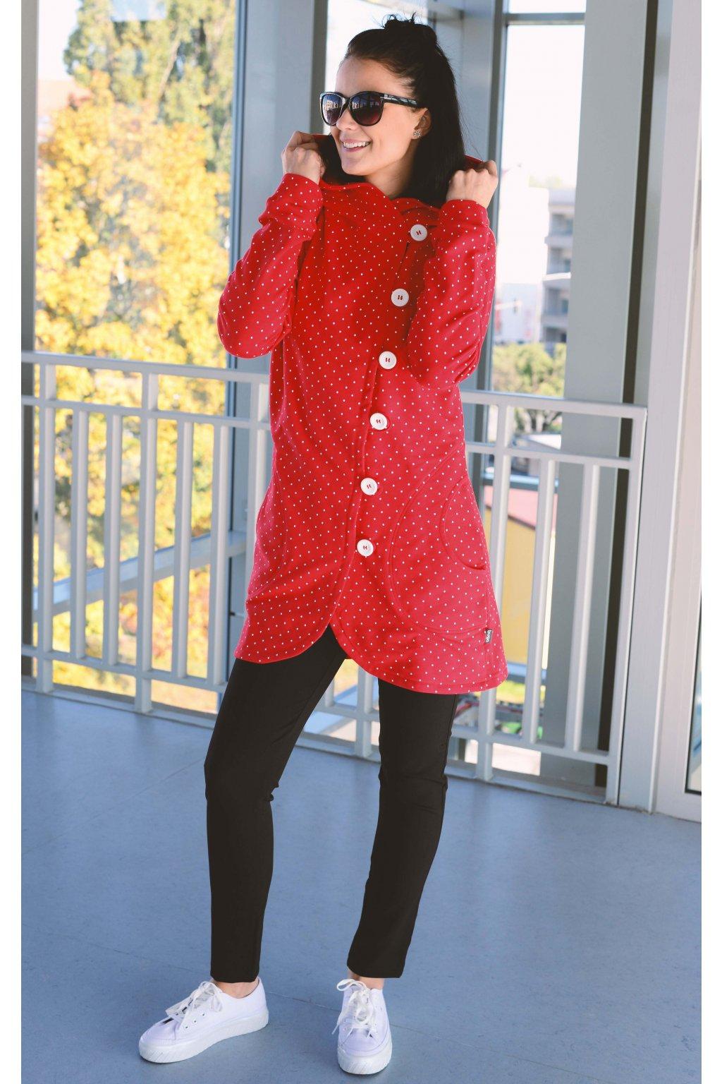 Kabátek Aimee Red Dott