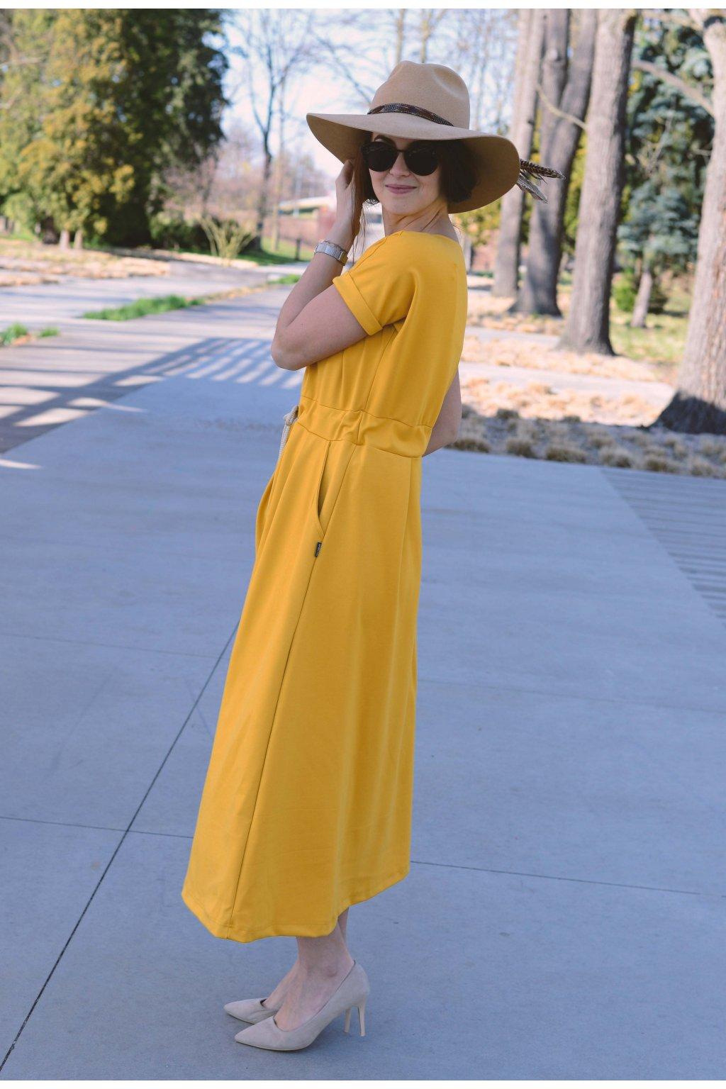 Šaty Audrey Mustard