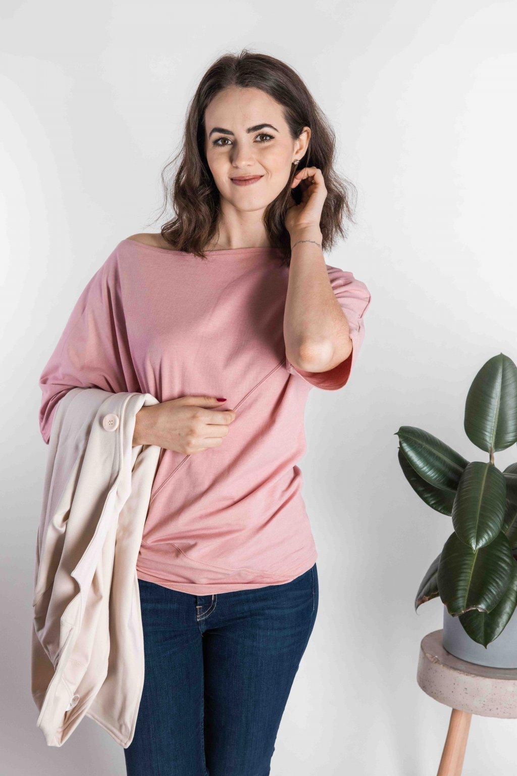 Tričko Kya Light Pink
