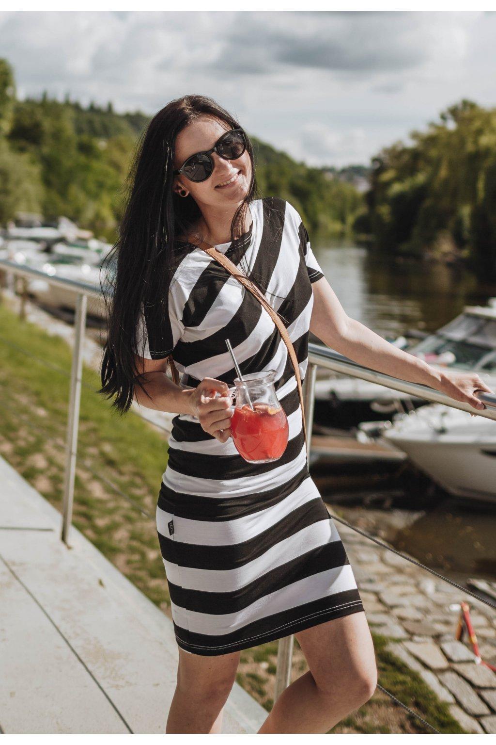 Šaty Endy Stripe Black