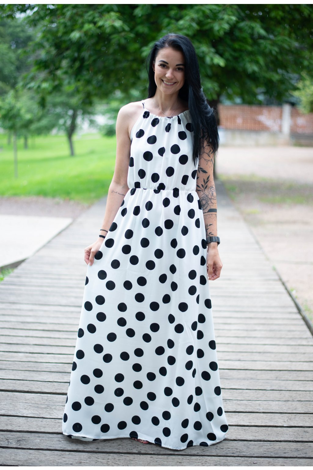 Šaty Romance White Dott