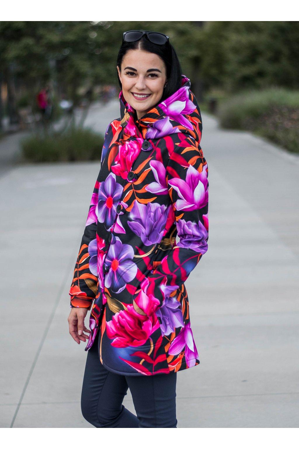 Kabát Aimee Pink Flowers