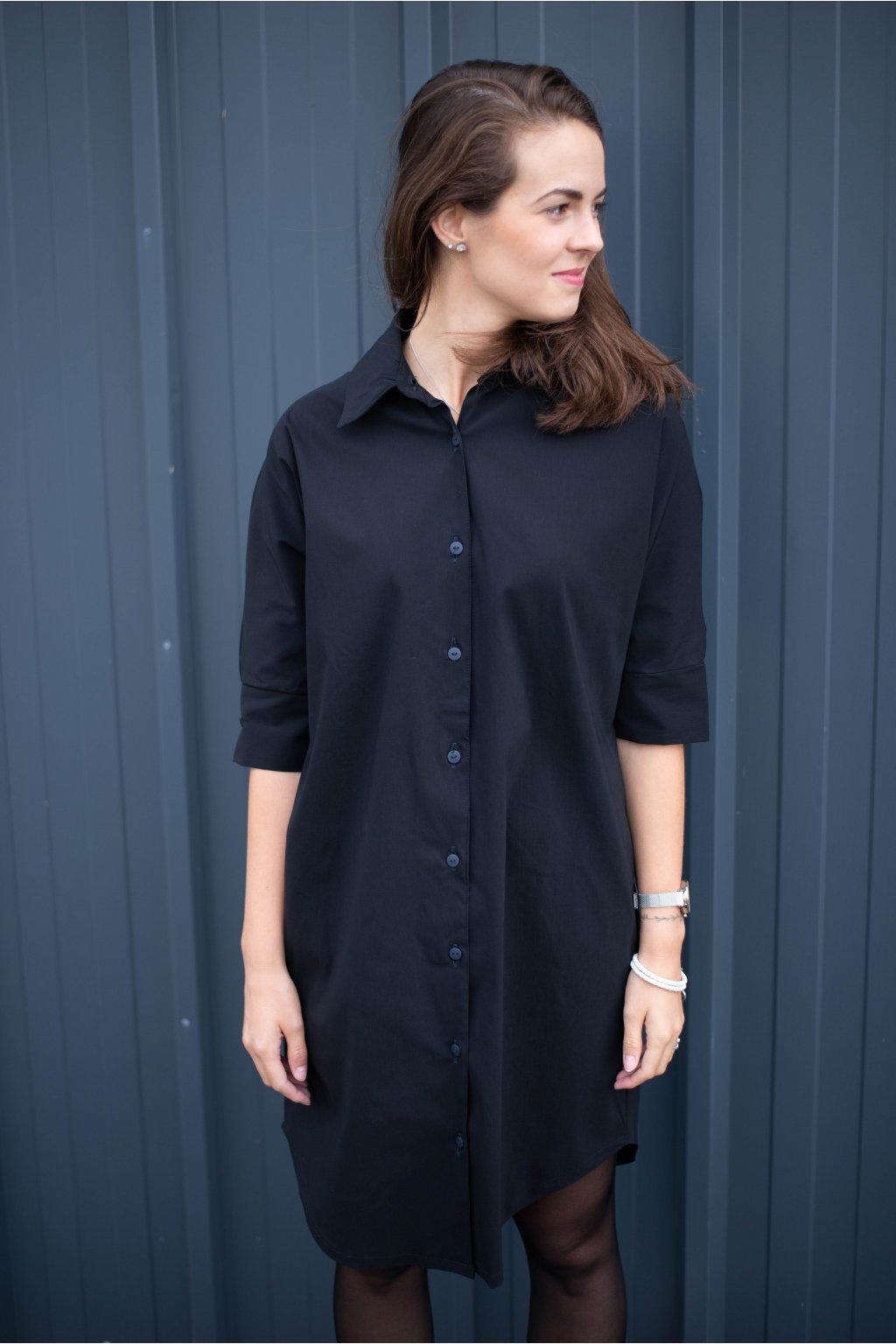 Košile Ebony Black Over