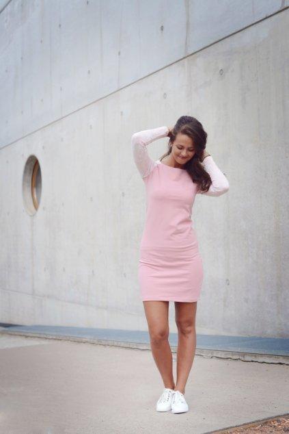 Šaty Raglan Pink/Lace