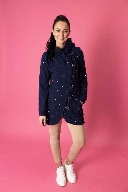 Kabátek Aimee Navy Dott