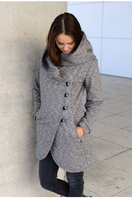 Kabát Aisha Grey