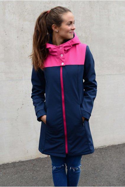 Softshell bunda Carlie Navy Pink