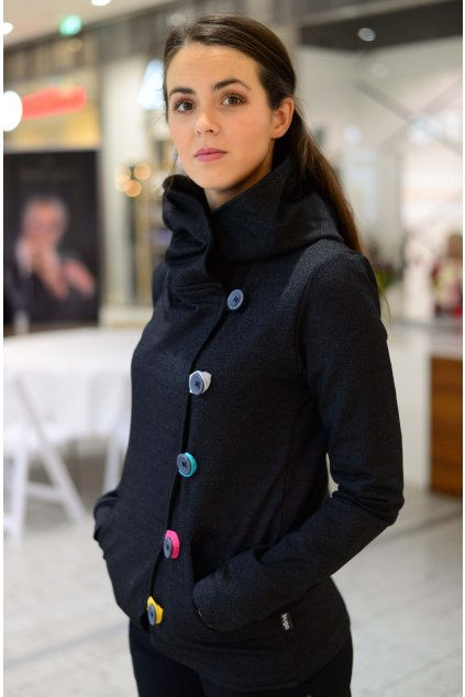Kabátek Dream Black Melange