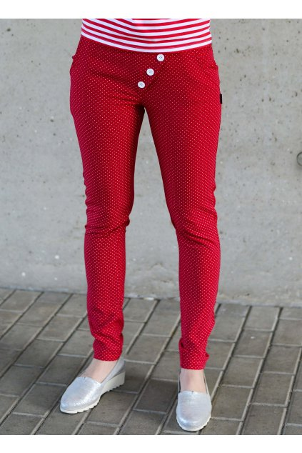 Kalhoty Reece Red/Dott