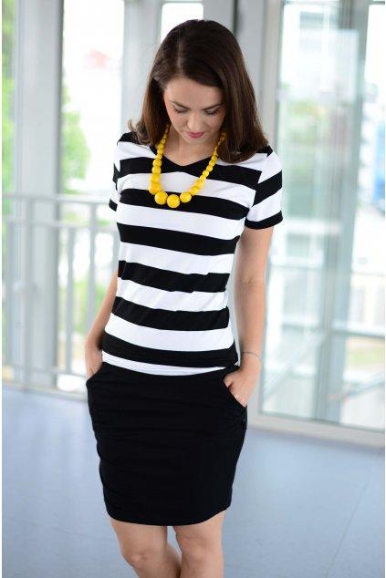 Tričko Dara Black Stripe