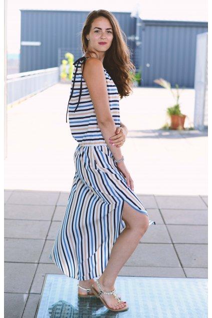 Šaty Breeze Long Blue stripe