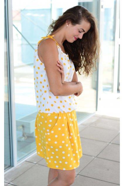 Šaty Breeze Yellow Dott