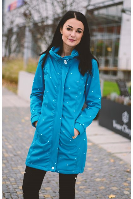 Softshell bunda Grace Turquois