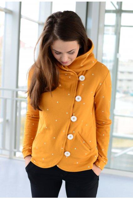 Kabátek Dream Mustard Dott
