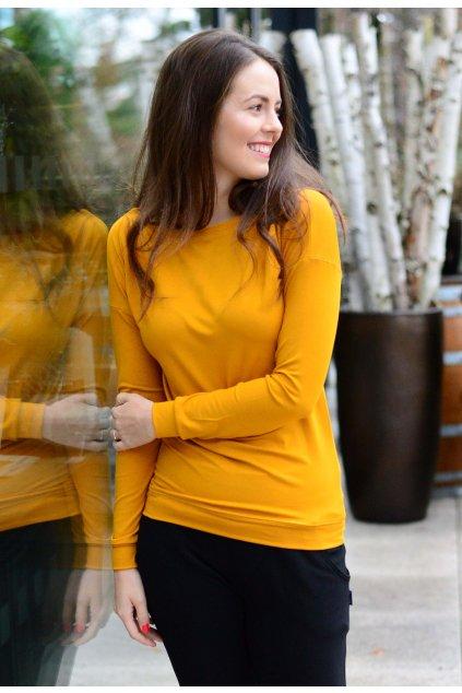 Triko Lina Mustard Gold