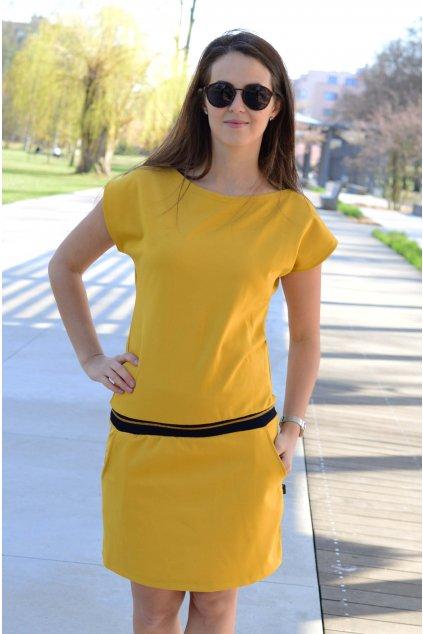 Šaty Elegance Mustard