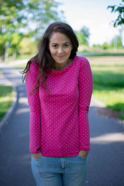 Mikina Lipa Pink Dott
