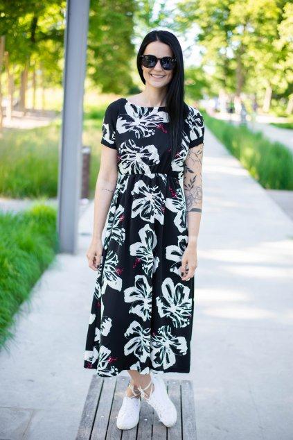 Šaty Boho Black&Flo