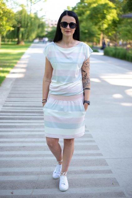 Šaty Elegance Pink&White