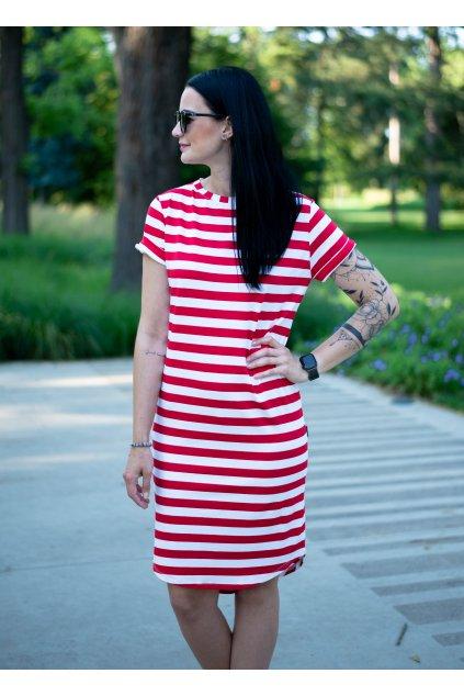 Šaty Maya Red Stripe