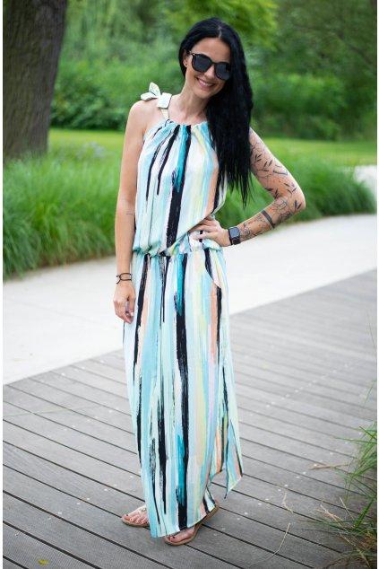 Šaty Breeze Long Neon Stripe