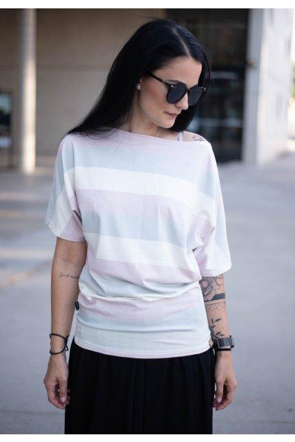 Tričko Kya Pink Stripe