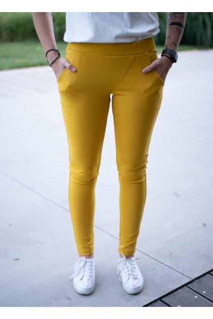 Kalhoty Elli Mustard
