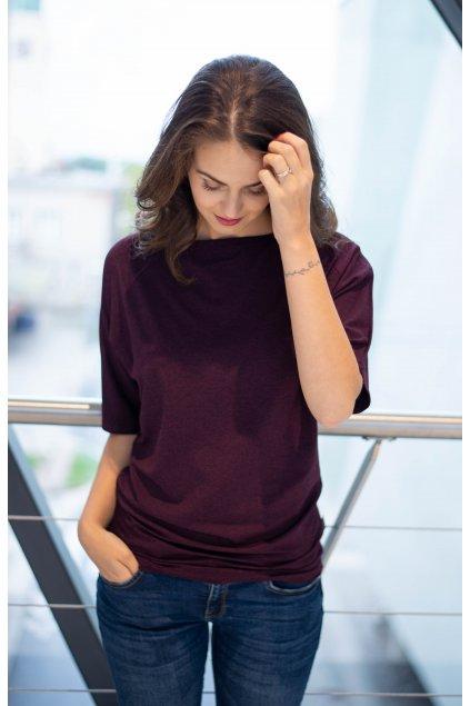 Tričko Kya Melange Purple