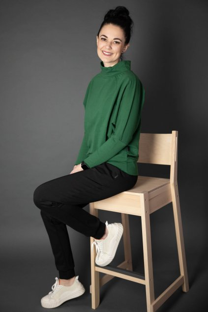 Mikina Gaia Green